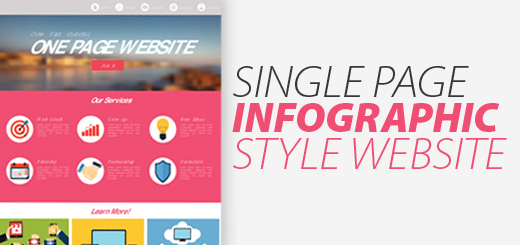 Benefits of Single Page Infographic Style Websites
