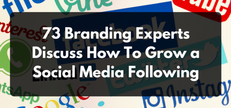 953f99f6b 73 Branding Experts Discuss How To Grow a Social Media Following